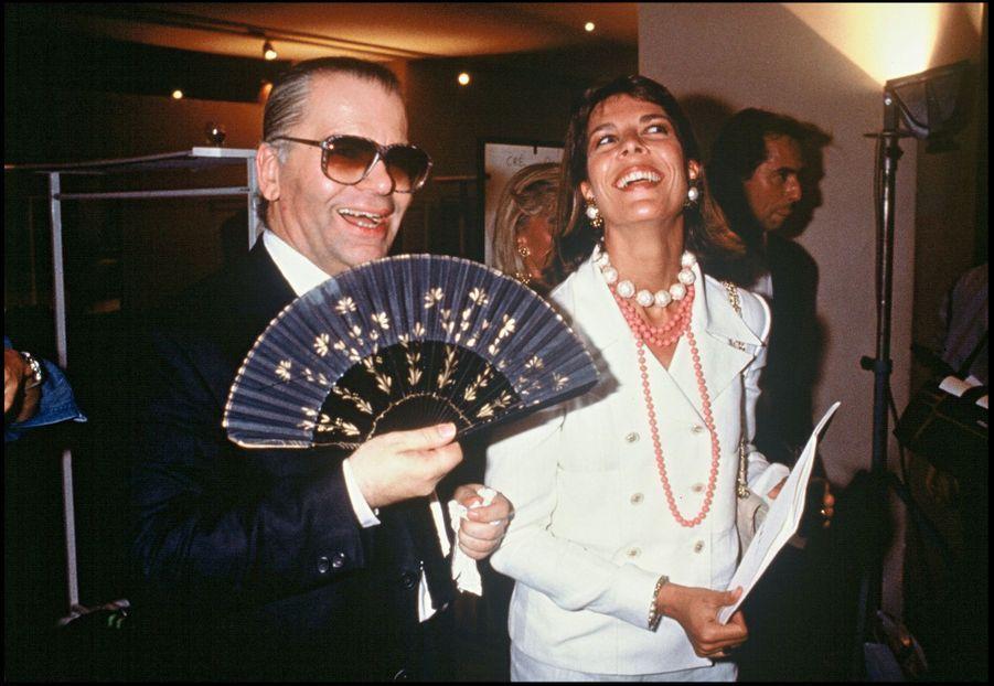 AvecCaroline de Monaco en 1989
