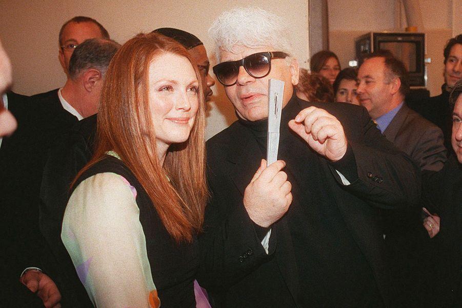 Avec Julianne Moore en 2000