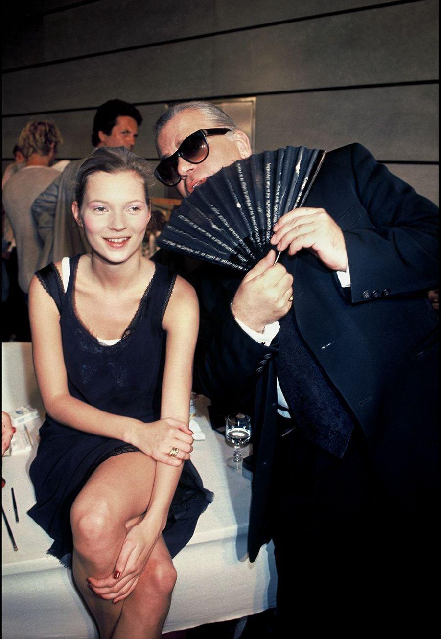 En 1994 avec Kate Moss