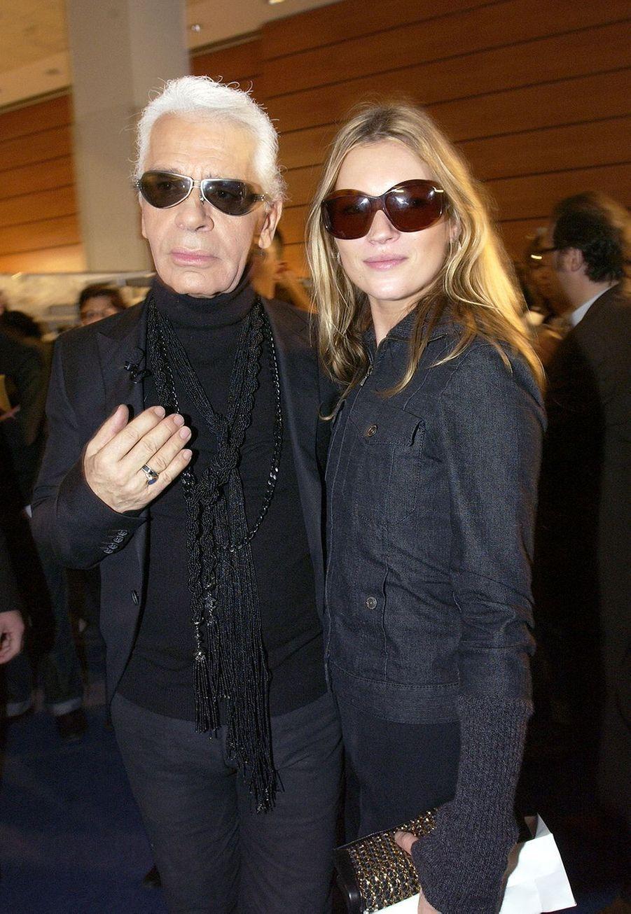Avec Kate Moss en 2003