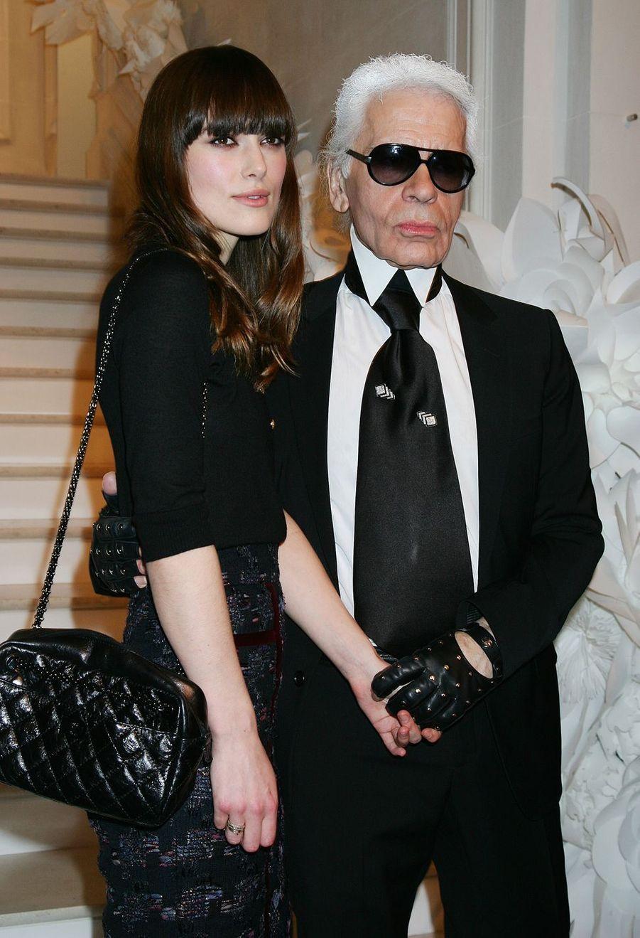 Avec Keira Knightley en 2009