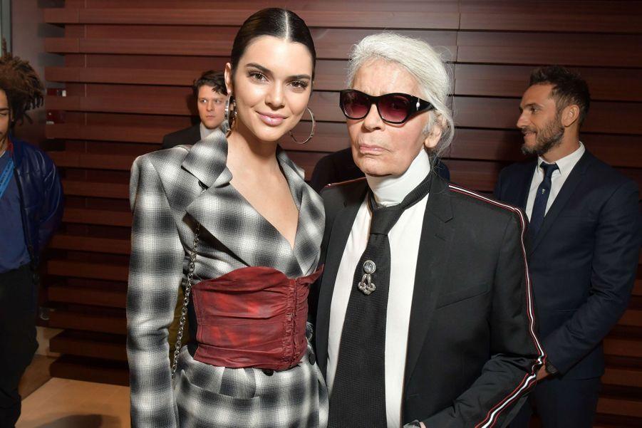 AvecKendall Jenner en 2017