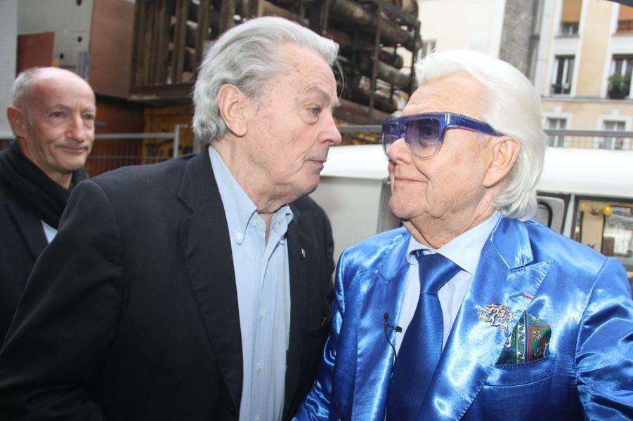 Michou avec Alain Delon