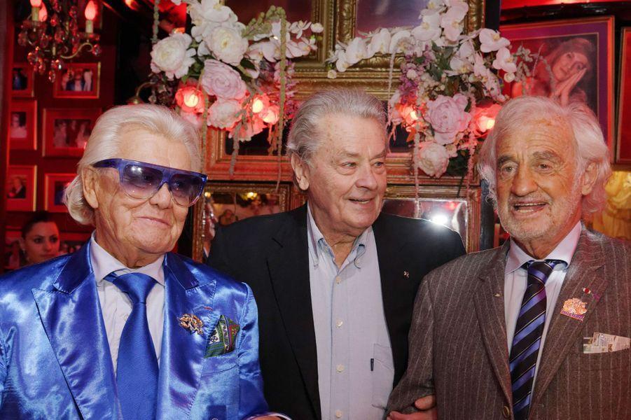 Michou avec Alain Delon et Jean-Paul Belmondo