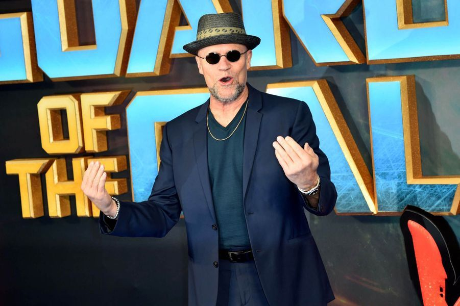 """Michael Rooker à l'avant-première des """"Gardiens de la Galaxie : volume 2"""" à Londres."""