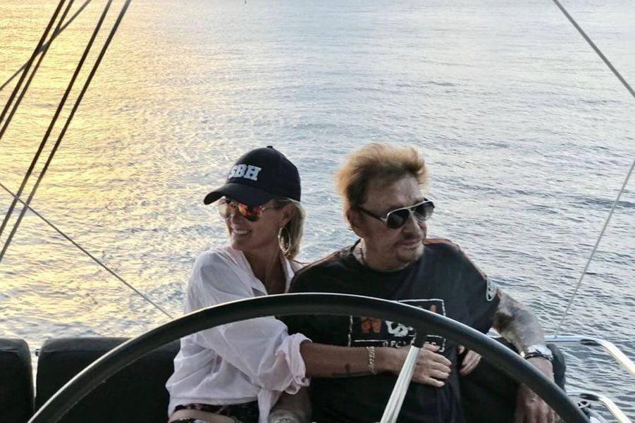 Laeticia et Johnny Hallyday à Saint-Barth