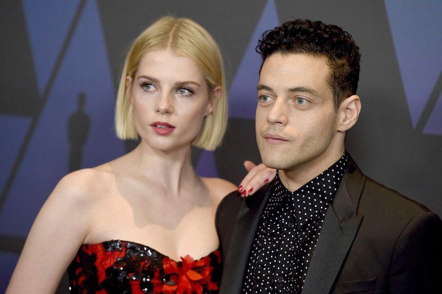 Rami Malek et Lucy Boynton en novembre 2018