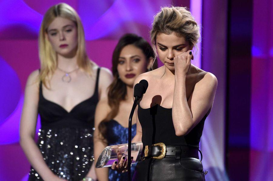 Selena Gomez lors des Billboard Women in Music 2017, le 30 novembre 2017.