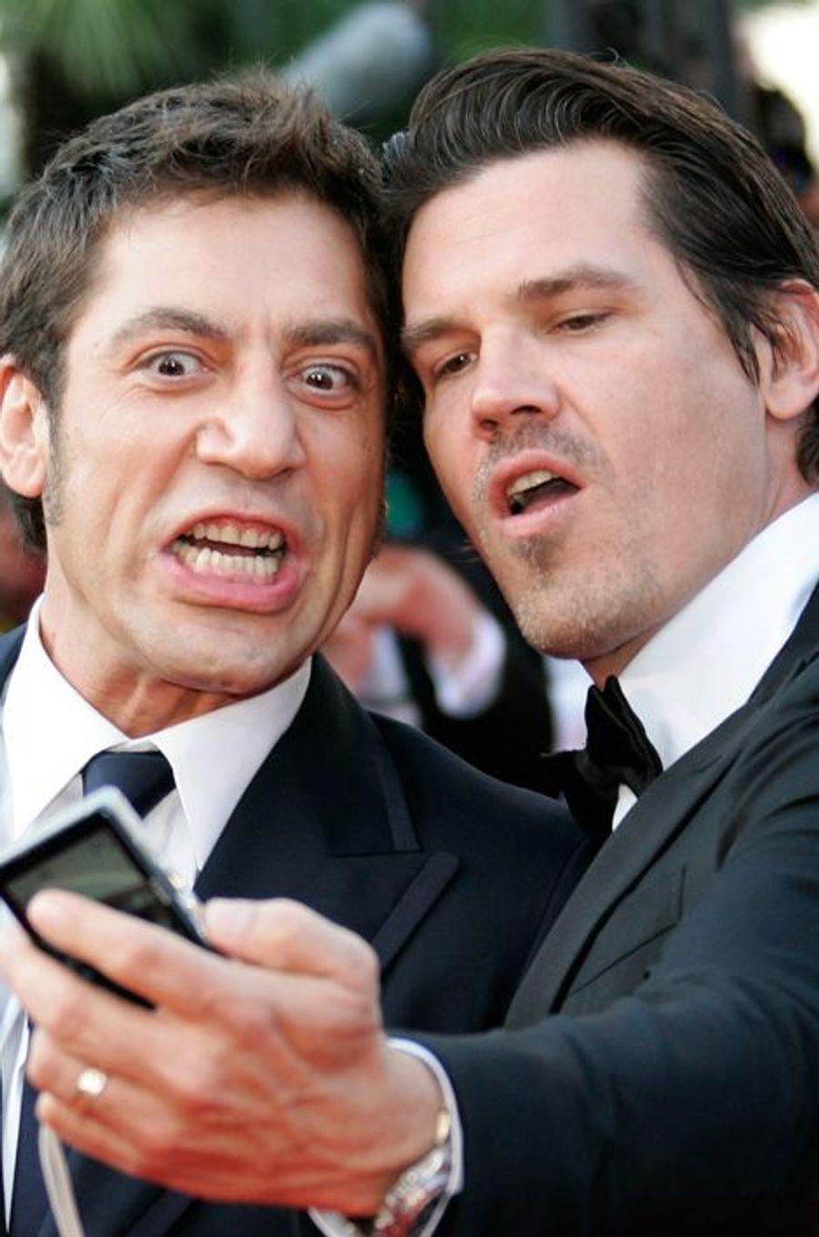Javier Bardem et Josh Brolin au festival de Cannes en 2007
