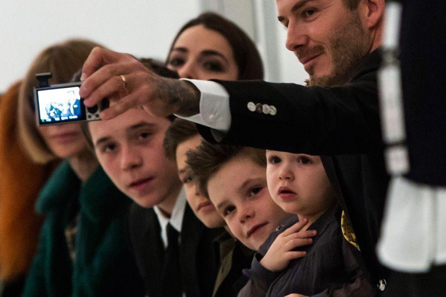 Le clan Beckham à la Fashion Week de New-York, février 2014