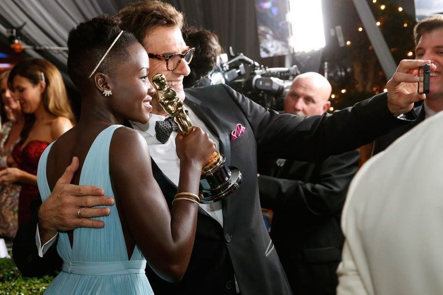 Lupita Nyong'o aux Oscars le 3 mars 2014