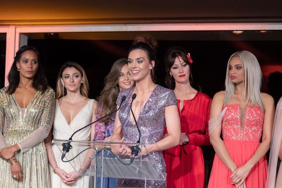 Corinne Coman, Rachel Legrain-Trapani, Ophélie Meunier, Marine Lorphelin, Mareva Geoges et Alicia Aylies à Paris le 20 mars 2019