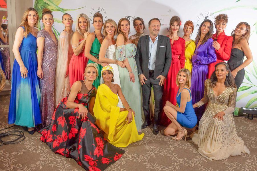 Les Miss France et Bonnes Fées entourent Arthur le 20 mars 2019 à Paris
