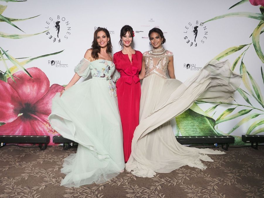 Mareva Georges, Mareva Galanter et Vaimalama Chaves à Paris le 20 mars 2019