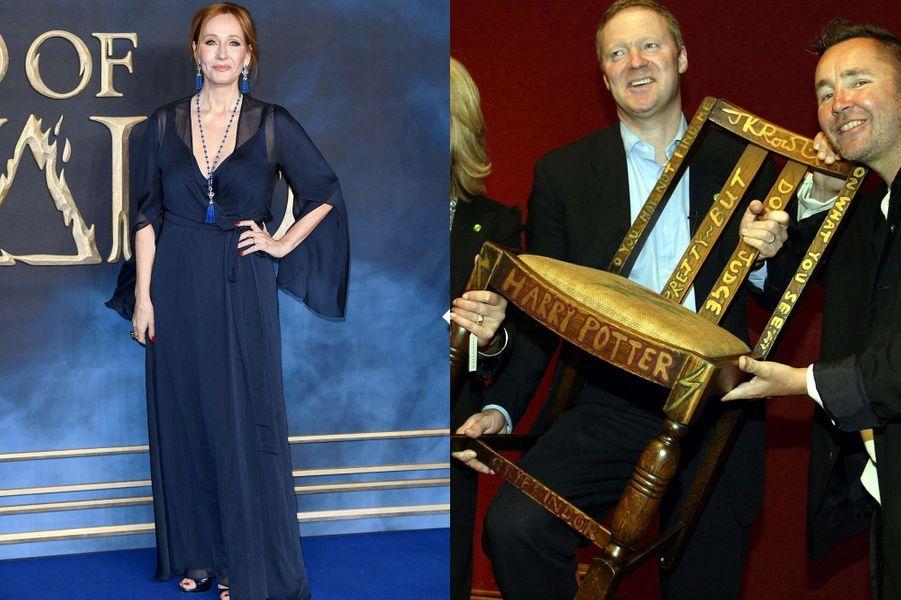 La chaise sur laquelle J.K. Rowling a écrit les deux premiers opus de la saga «Harry Potter» a été vendue pour394.000 dollars à New York en avril 2016.