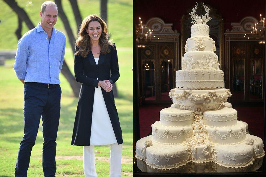 Une part du gâteau de mariage du prince William avec Kate Middleton a été vendu aux enchères en 2017. Son prix est estimé entre 860 et 1 290 euros.