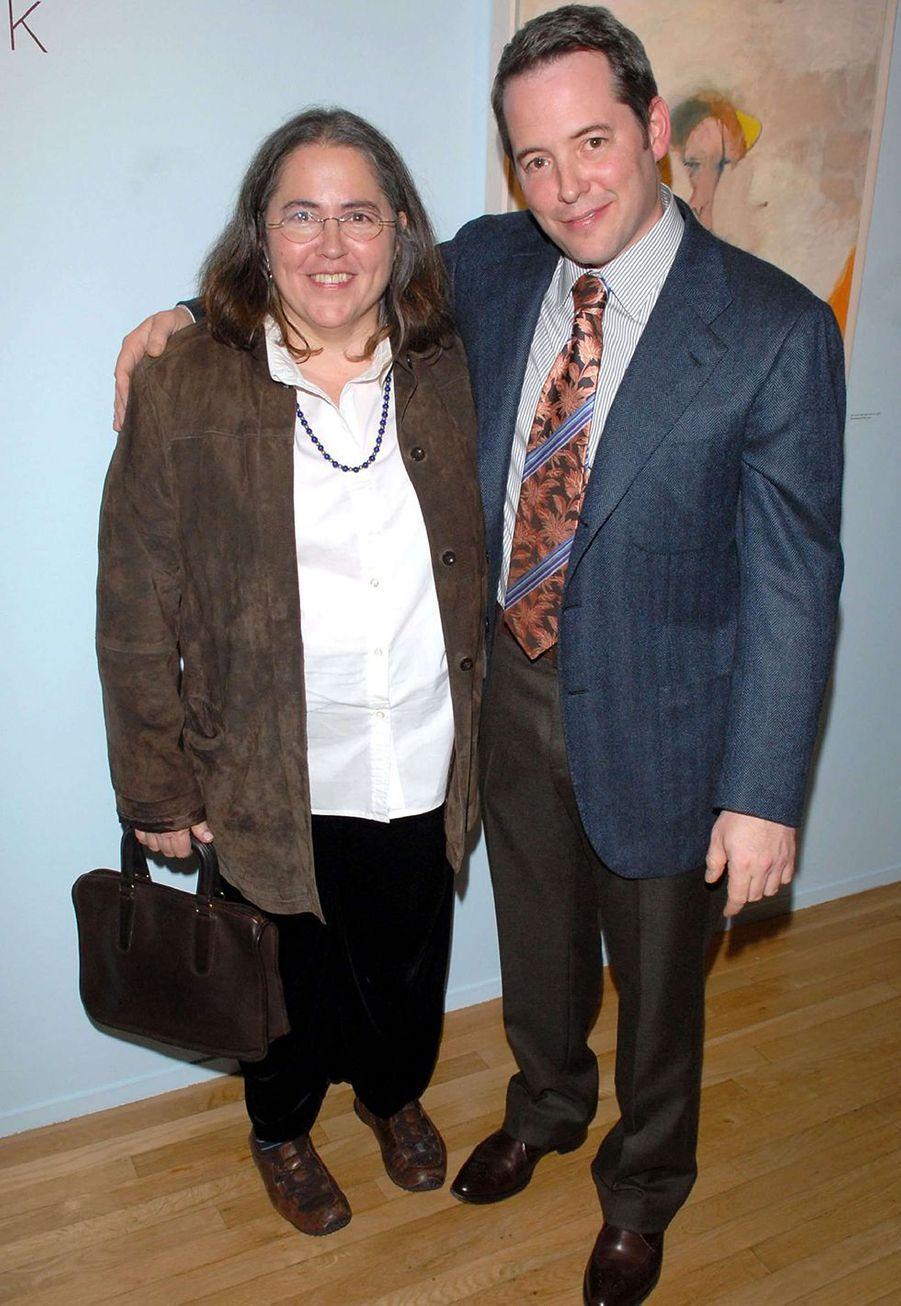 Matthew Broderick et sa soeur Janet (en 2006)