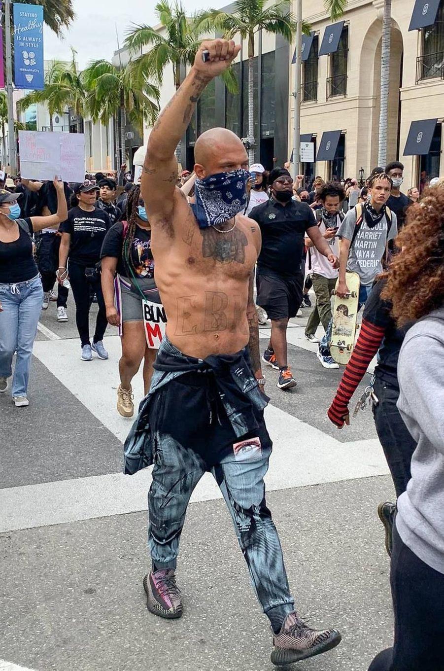 Jeremy Meeks manifeste à Los Angeles le 30 mai 2020