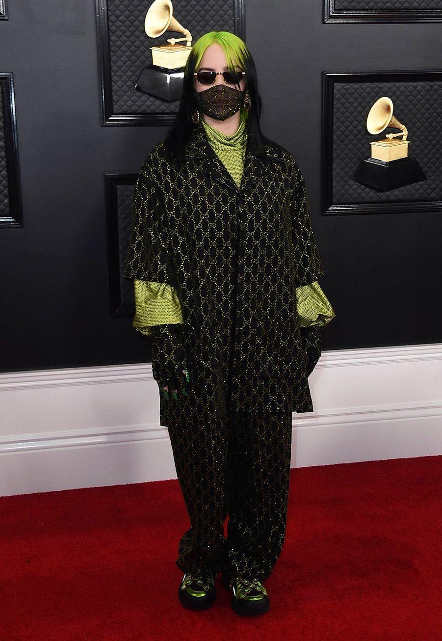 Billie Eilishà la soirée des Grammy Awards à Los Angeles le 26 janvier 2020.