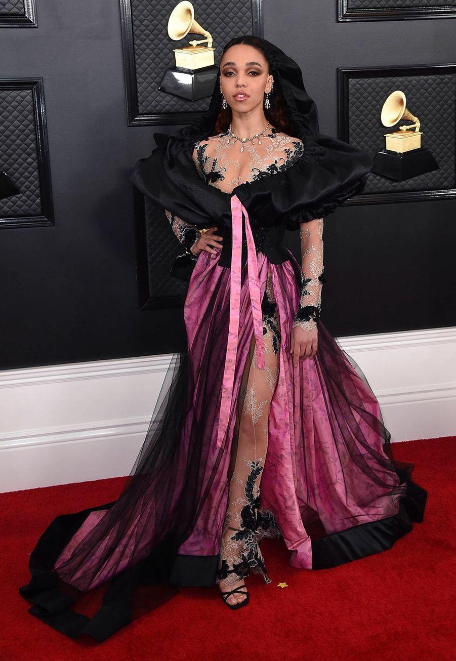 FKA Twigsà la soirée des Grammy Awards à Los Angeles le 26 janvier 2020.