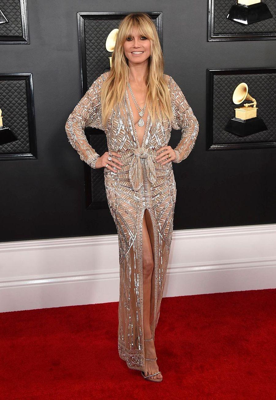 Heidi Klumà la soirée des Grammy Awards à Los Angeles le 26 janvier 2020.