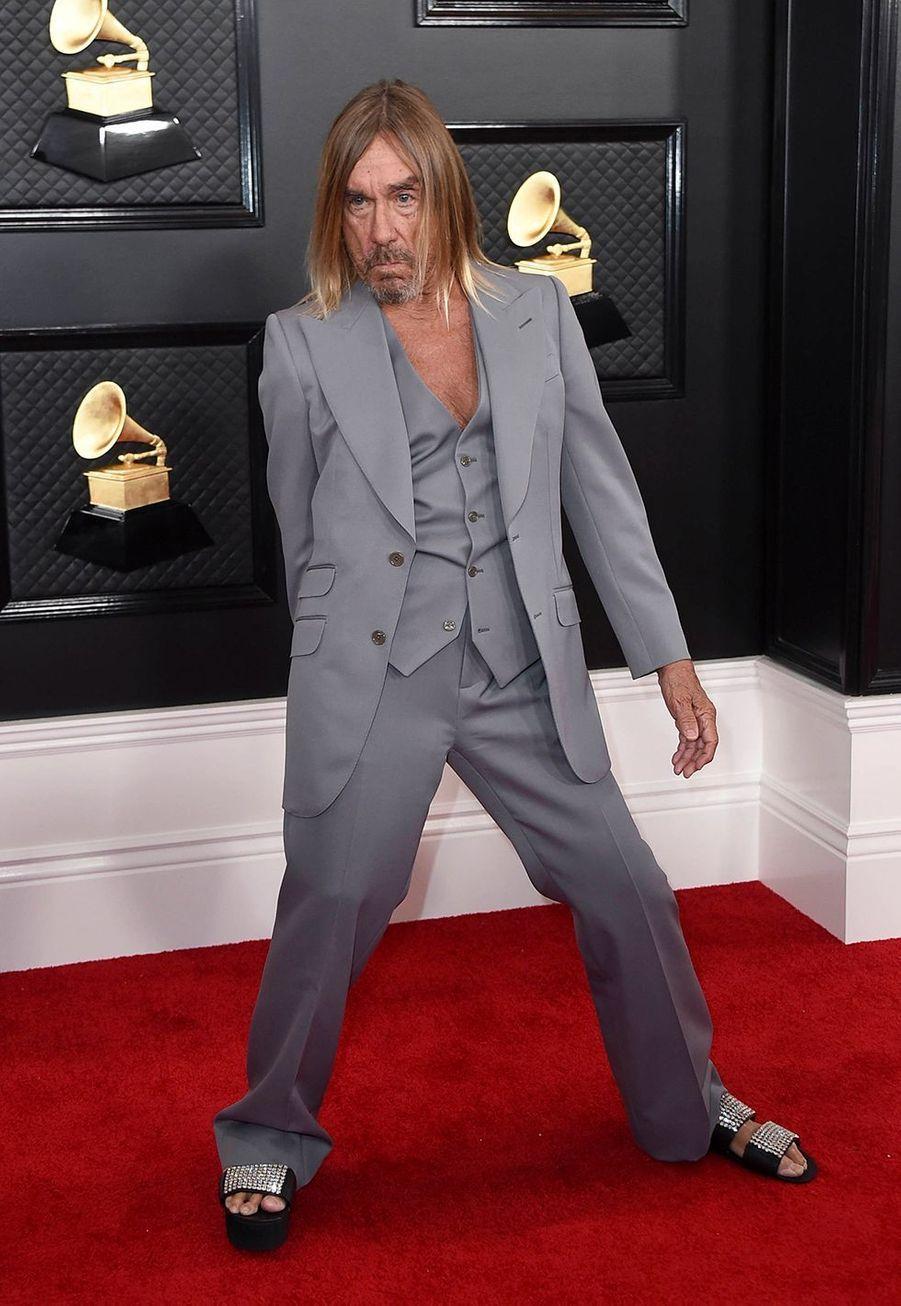 Iggy Popà la soirée des Grammy Awards à Los Angeles le 26 janvier 2020.