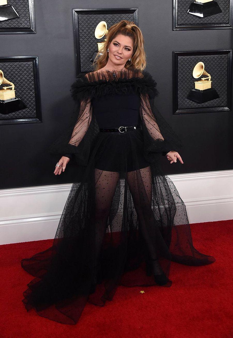 Shania Twainà la soirée des Grammy Awards à Los Angeles le 26 janvier 2020.