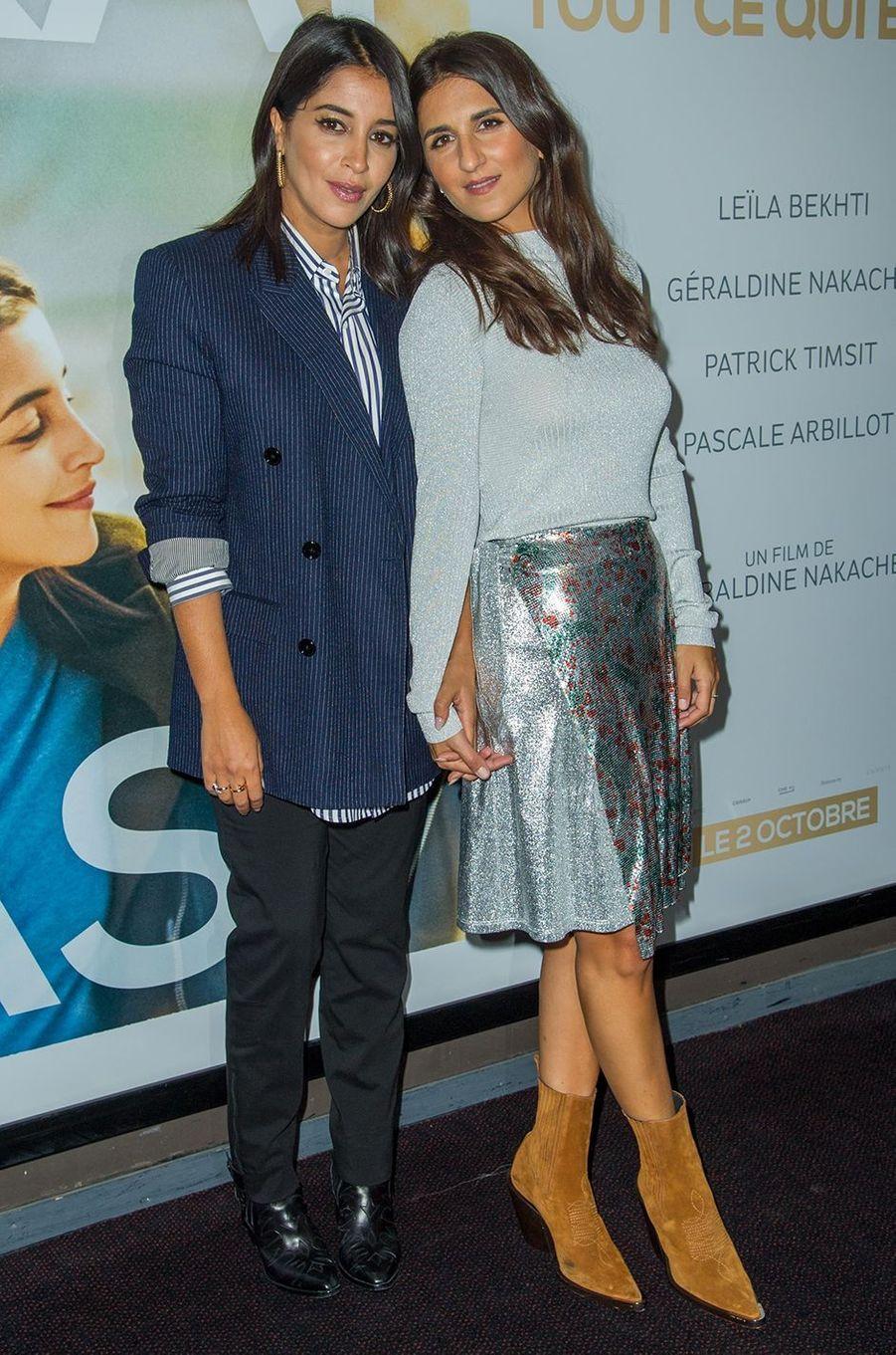 Leïla Bekhti et Géraldine Nakache : comme des soeurs. Rencontrées au milieu des années 2000, elles ont collaboré ensemble sur les films «Tout ce qui brille», «Nous York» et plus récemment «J'irai où tu iras».