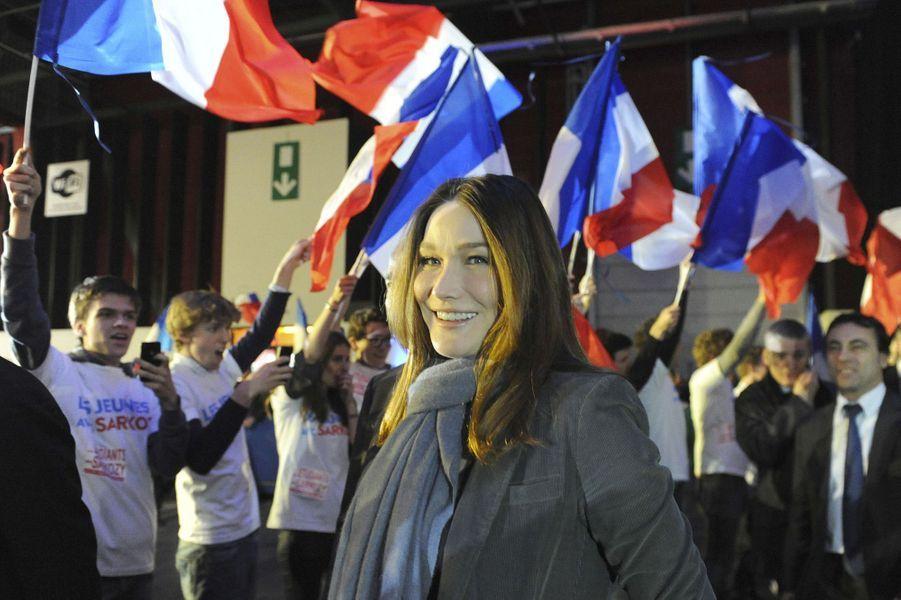 Carla Bruni à Bordeaux, en mars 2012.