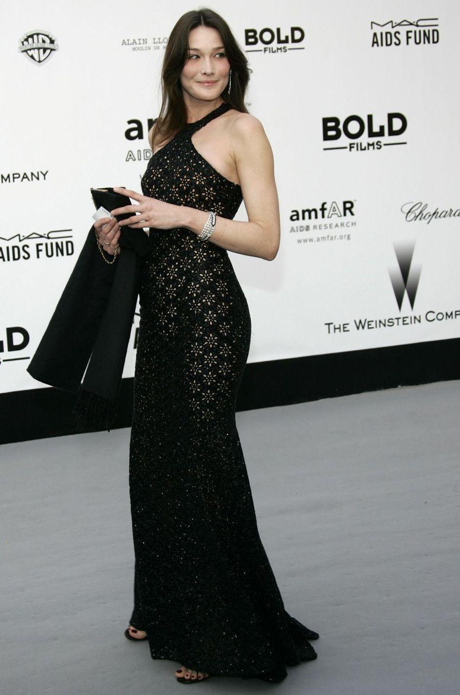 Carla Bruni à Cannes, en mai 2007.