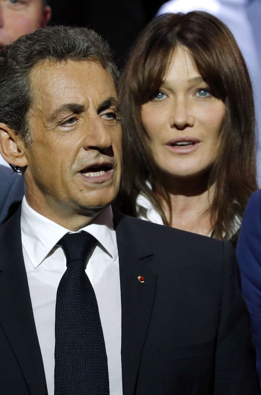 Carla Bruniet Nicolas Sarkozy à Paris, en octobre 2016.
