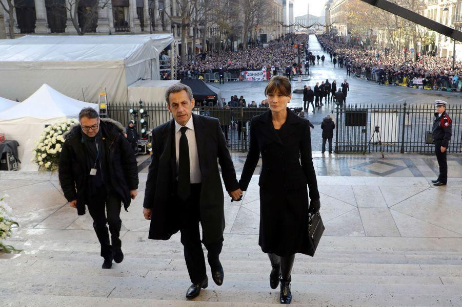 Carla Bruniet Nicolas Sarkozy à Paris, en décembre 2017.