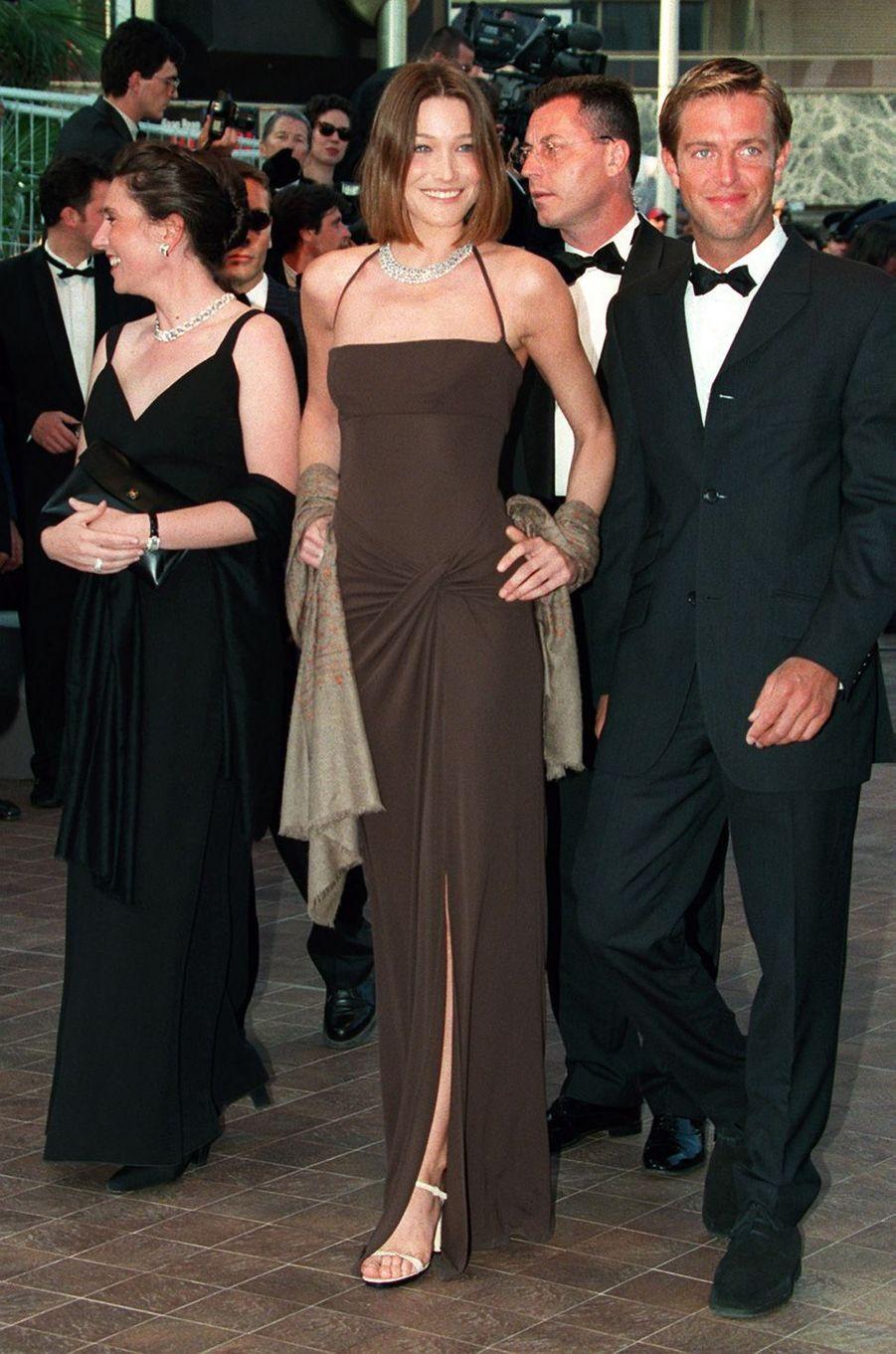 Carla Bruni à Cannes, en mai 1998.
