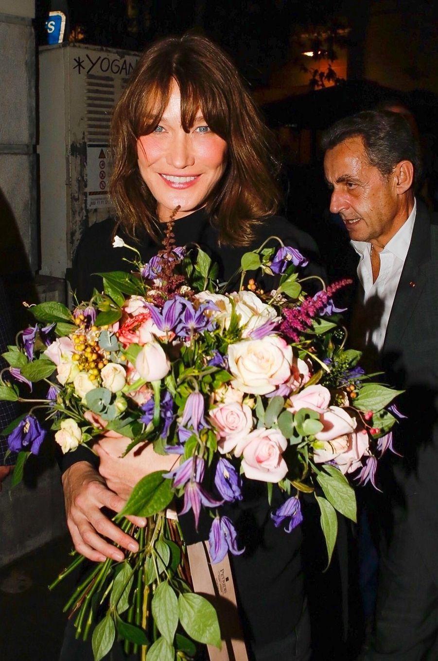 Carla Bruniet Nicolas Sarkozy à Athènes, en octobre 2017.