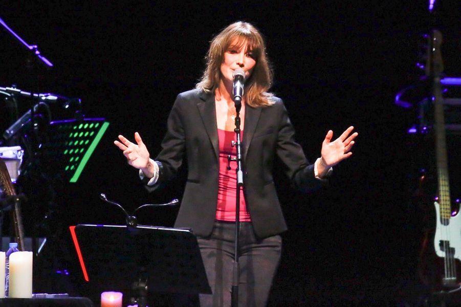 Carla Bruni à Athènes, en octobre 2017.