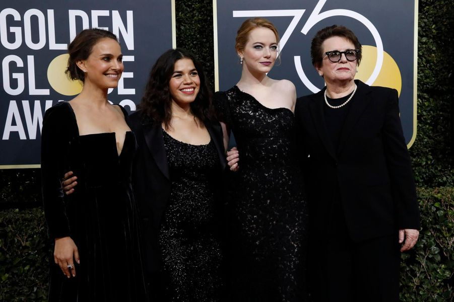 Natalie Portman, America Ferrera, Emma Stone et Billie Jean King