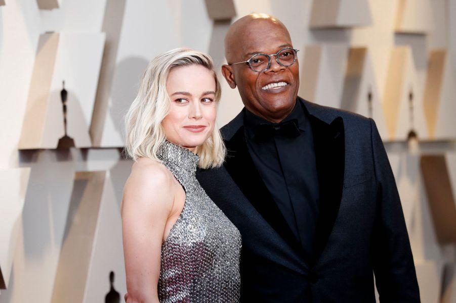 Brie Larson et Samuel L. Jackson