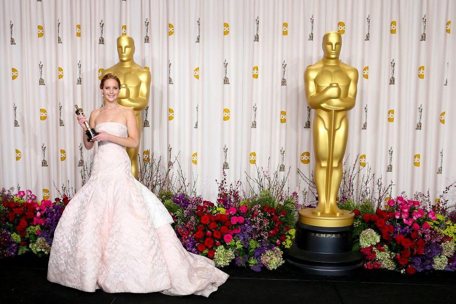 Jennifer Lawrence en Christian Dior en 2013