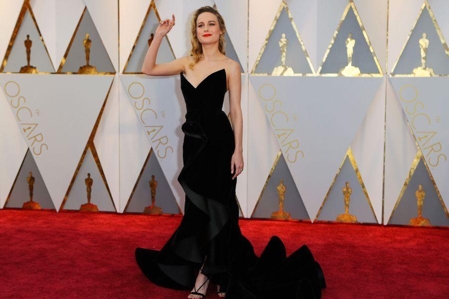 Brie Larson enOscar de la Renta.