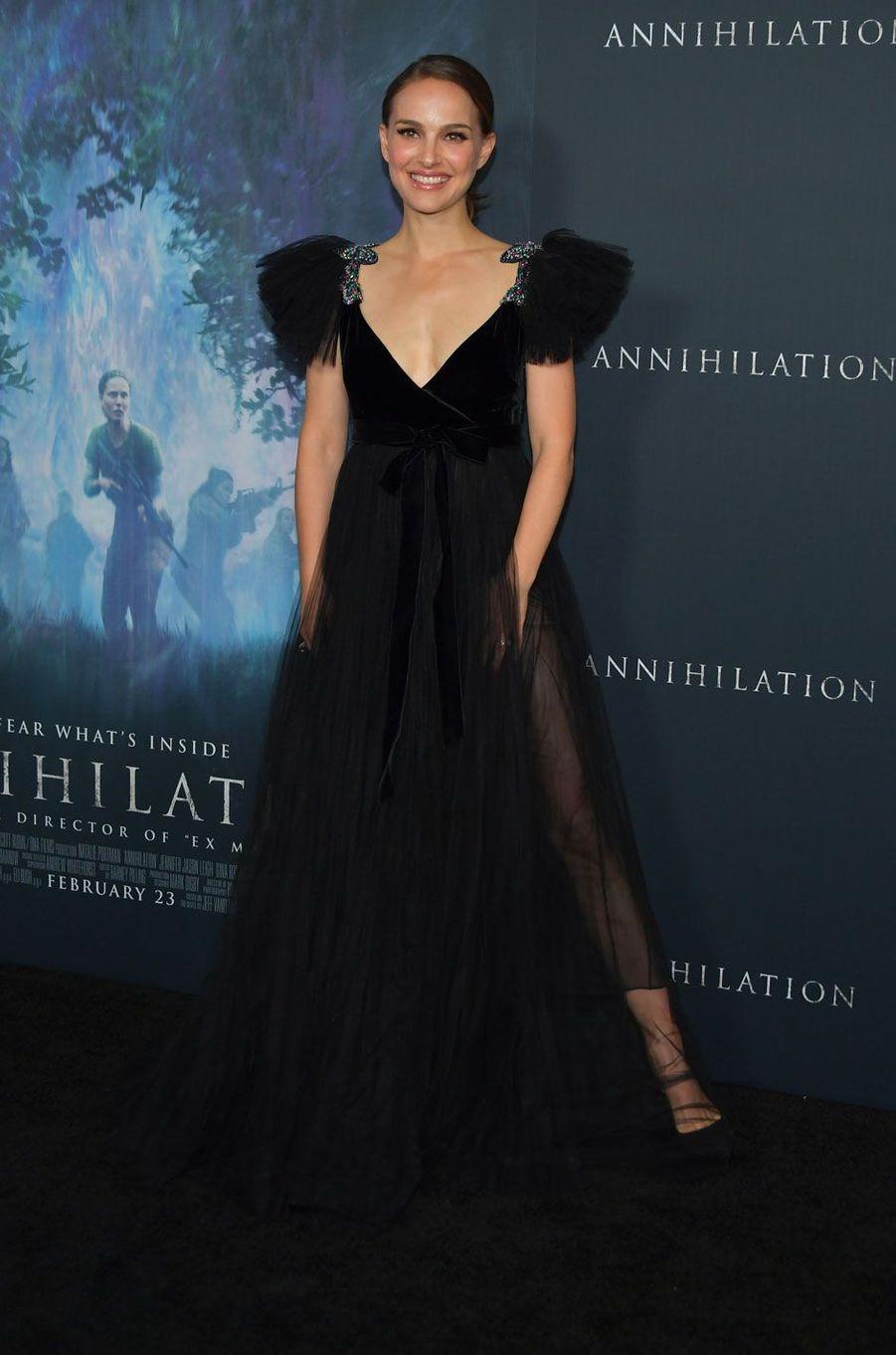 """Natalie Portman à la première de """"Annihilation"""" à Los Angeles"""