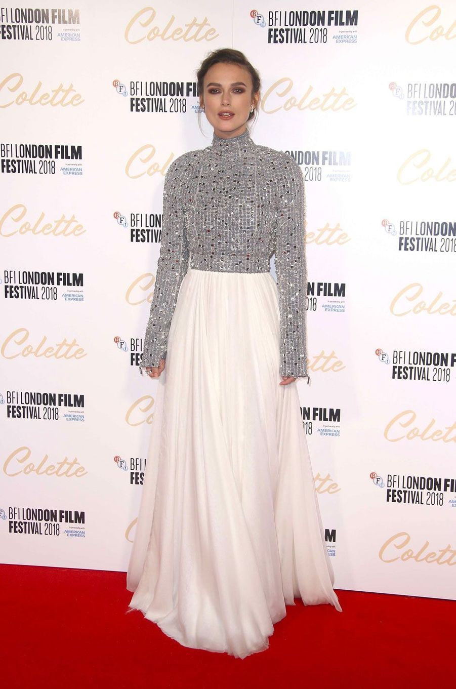 """Keira Knightley à la première de """"Colette"""" à Londres"""