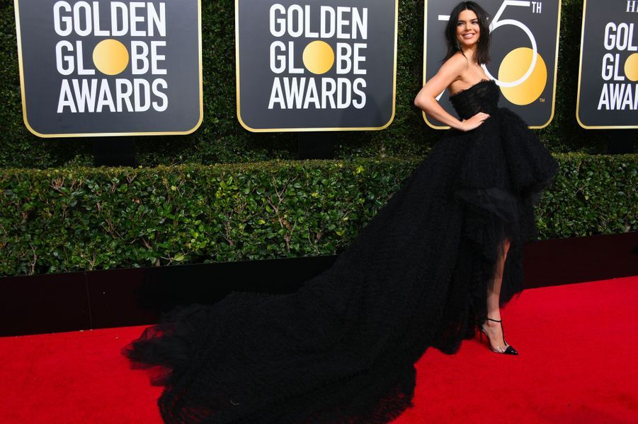 Kendall Jenner aux Golden Globes
