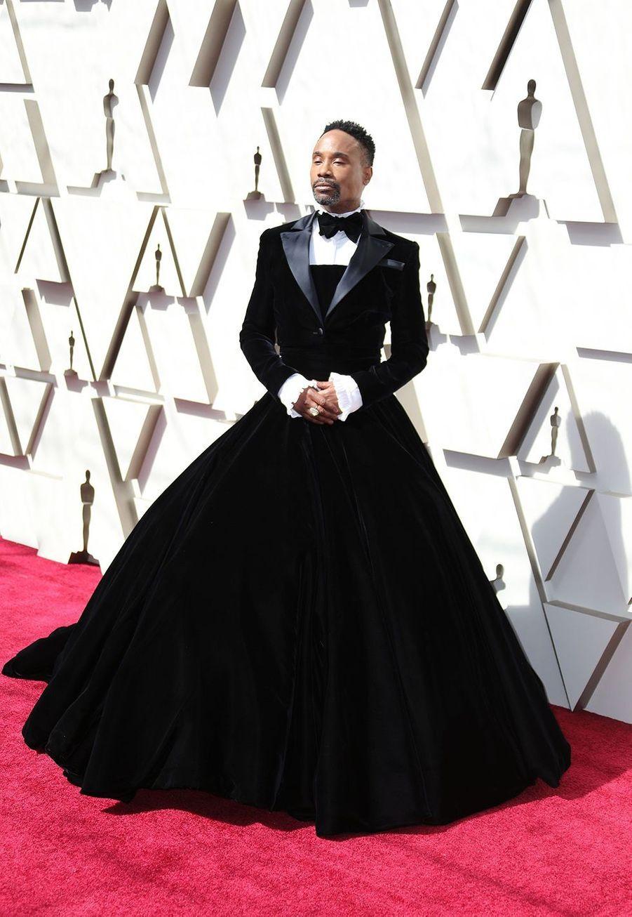 Billy Porter en robeChristian Siriano aux Oscars à Hollywood le 24 février 2019.