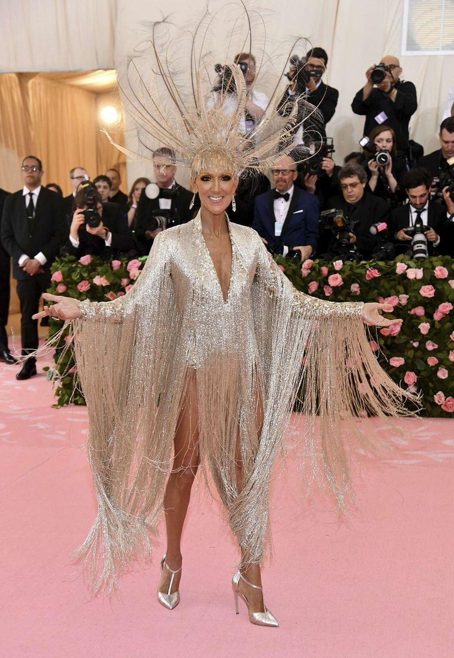 Céline Dion en robe Oscar de la Renta au Met Gala à New York le 6 mai 2019.