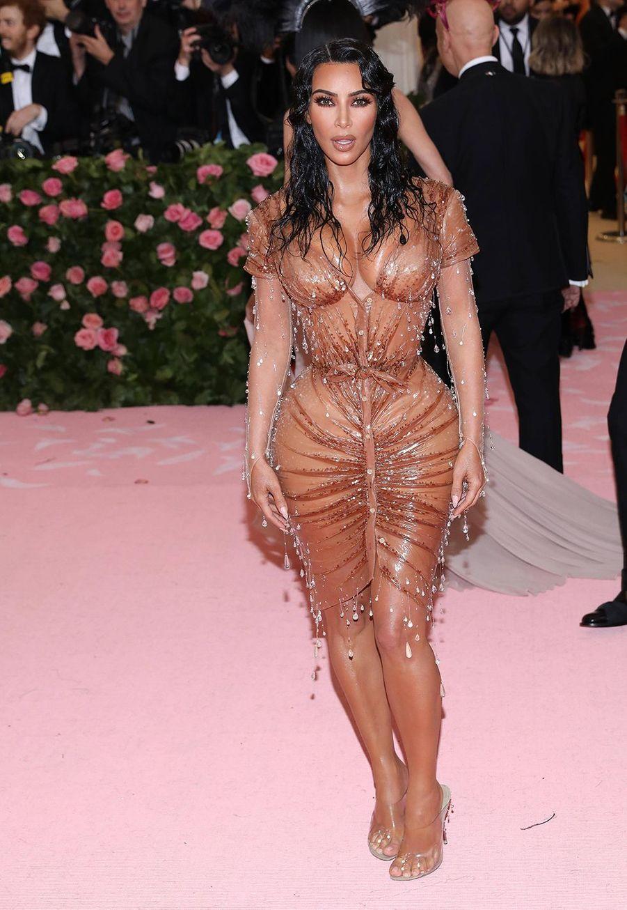 Kim Kardashian en robe Thierry Mugler au Met Gala à New York le 6 mai 2019.