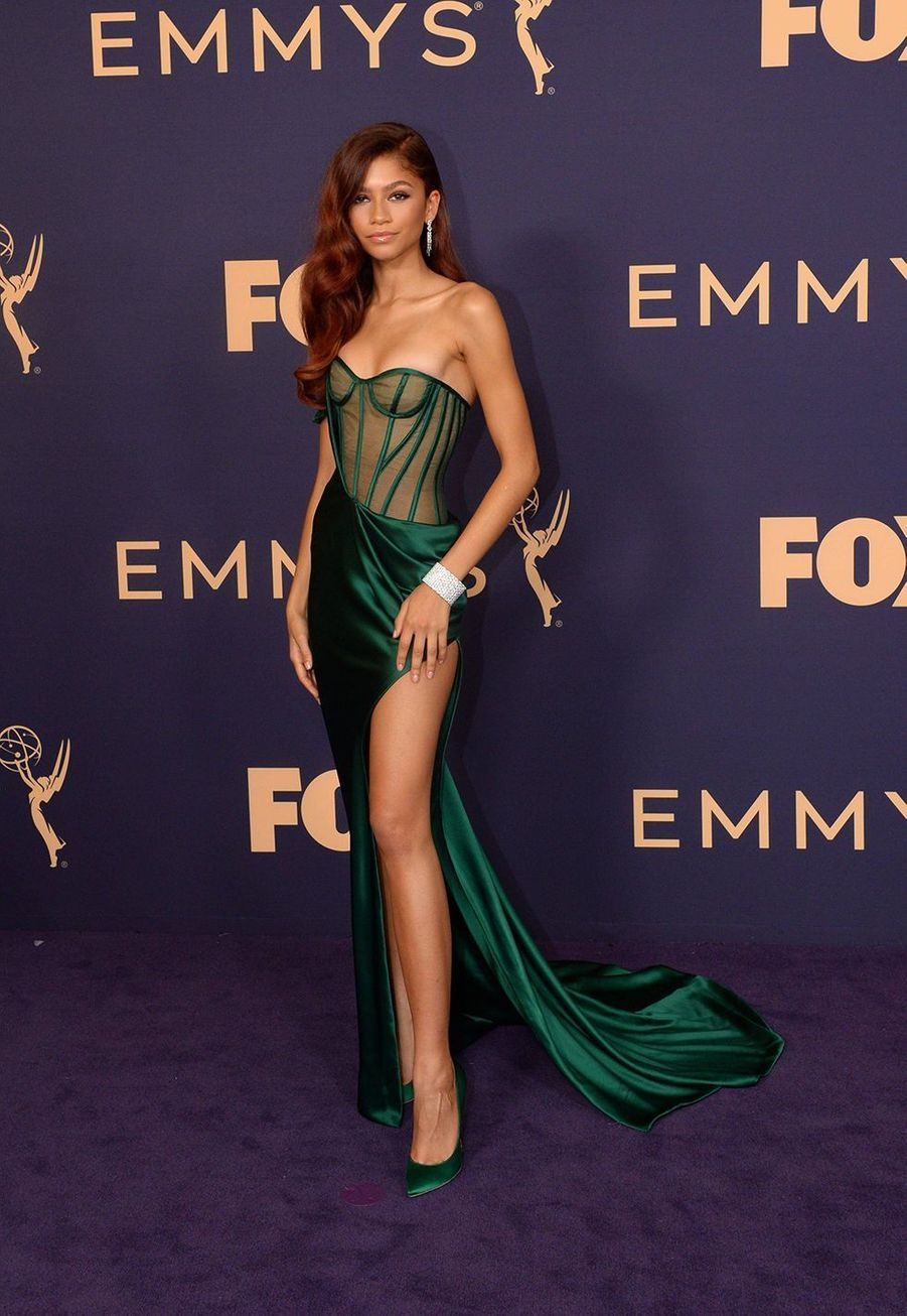 Zendaya en robe Vera Wang aux Emmy Awards à Hollywood le 23 septembre 2019.