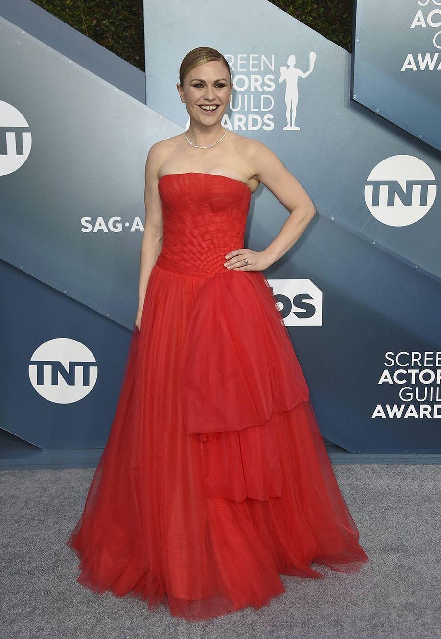 Anna Paquinlors desScreen Actors Guild Awards à Los Angeles, le 19 janvier 2020.