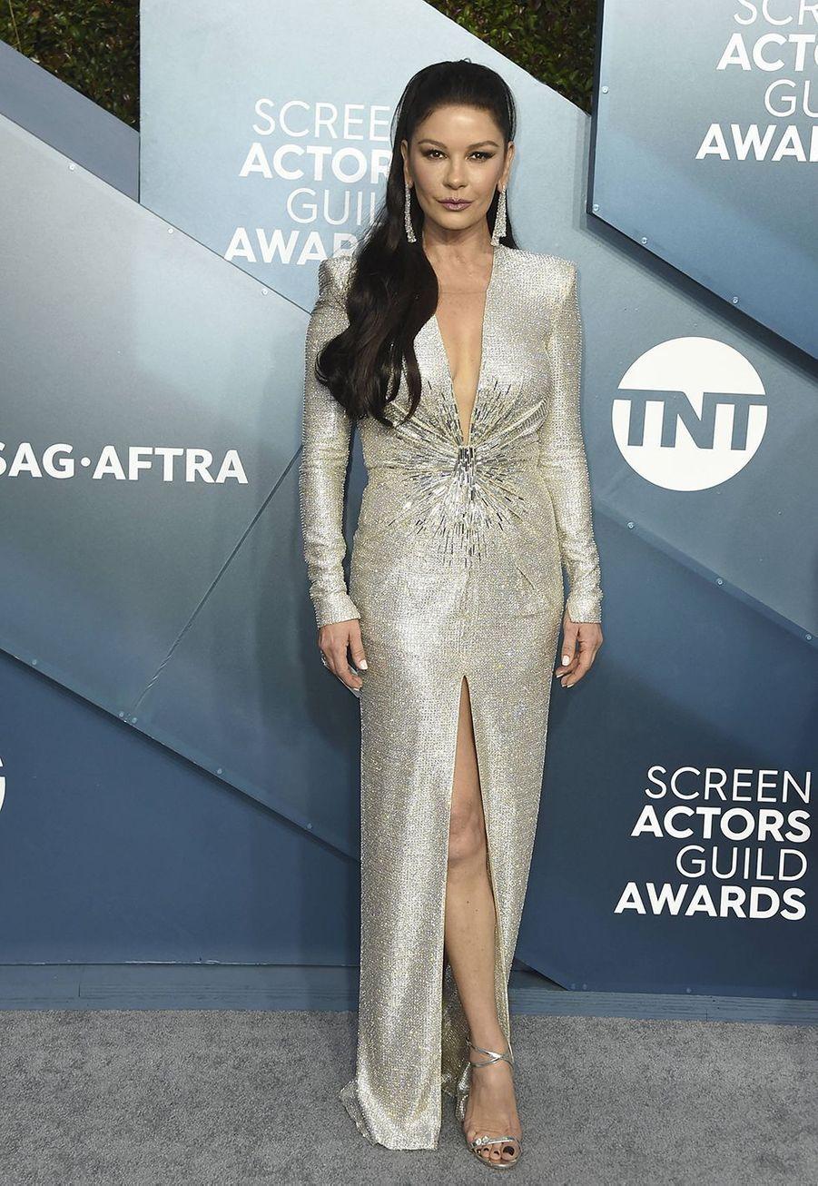 Catherine Zeta-Joneslors desScreen Actors Guild Awards à Los Angeles, le 19 janvier 2020.
