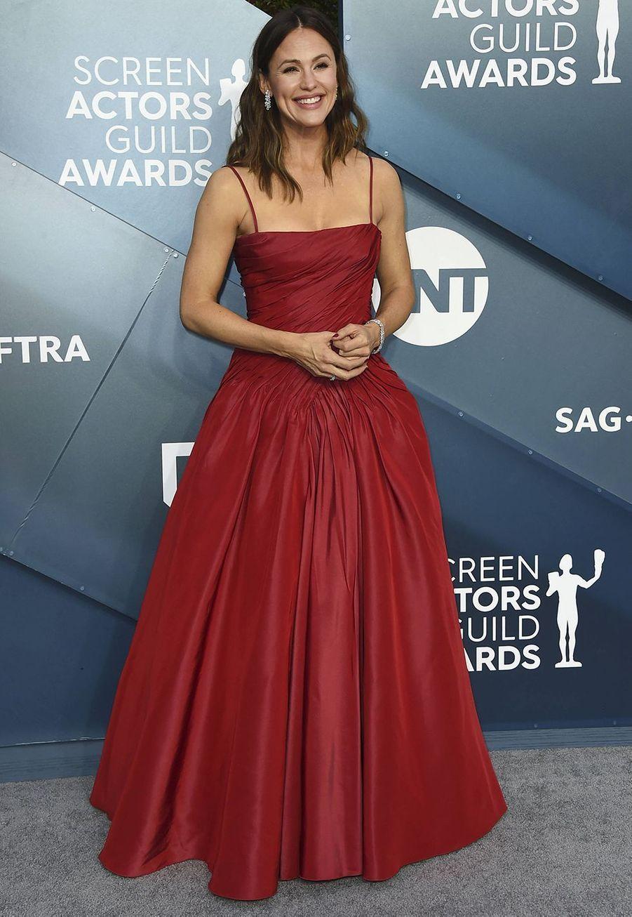 Jennifer Garner vêtue d'une robe Dolce & Gabbanalors desScreen Actors Guild Awards à Los Angeles, le 19 janvier 2020.