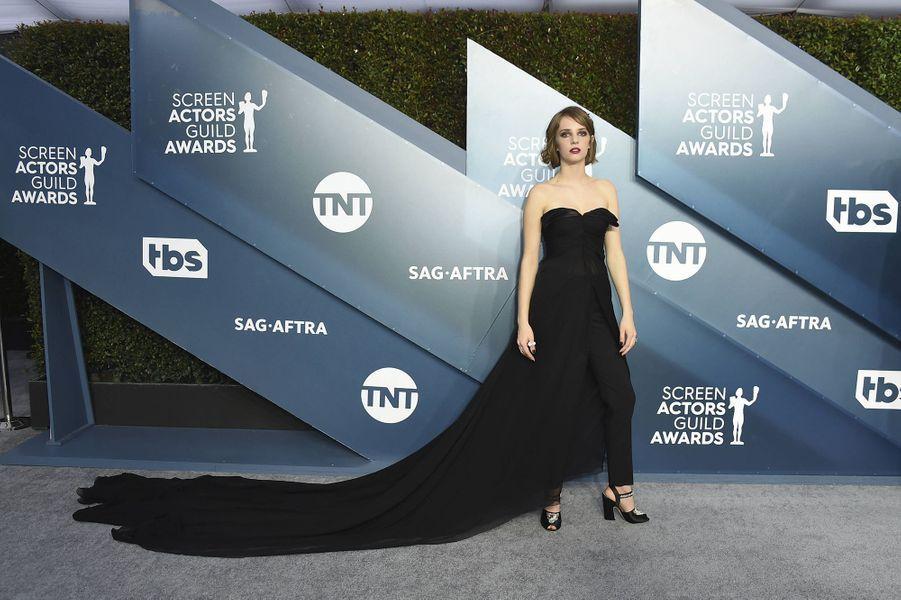 Maya Hawke dans une création signéeGiambattista Vallilors desScreen Actors Guild Awards à Los Angeles, le 19 janvier 2020.